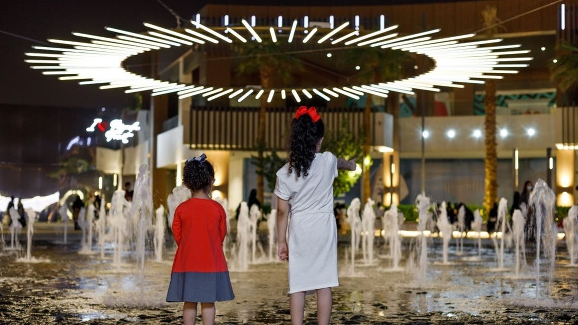 The light installation at Venividi Multiplex, Riyadh (Courtesy: Noor Riyadh)