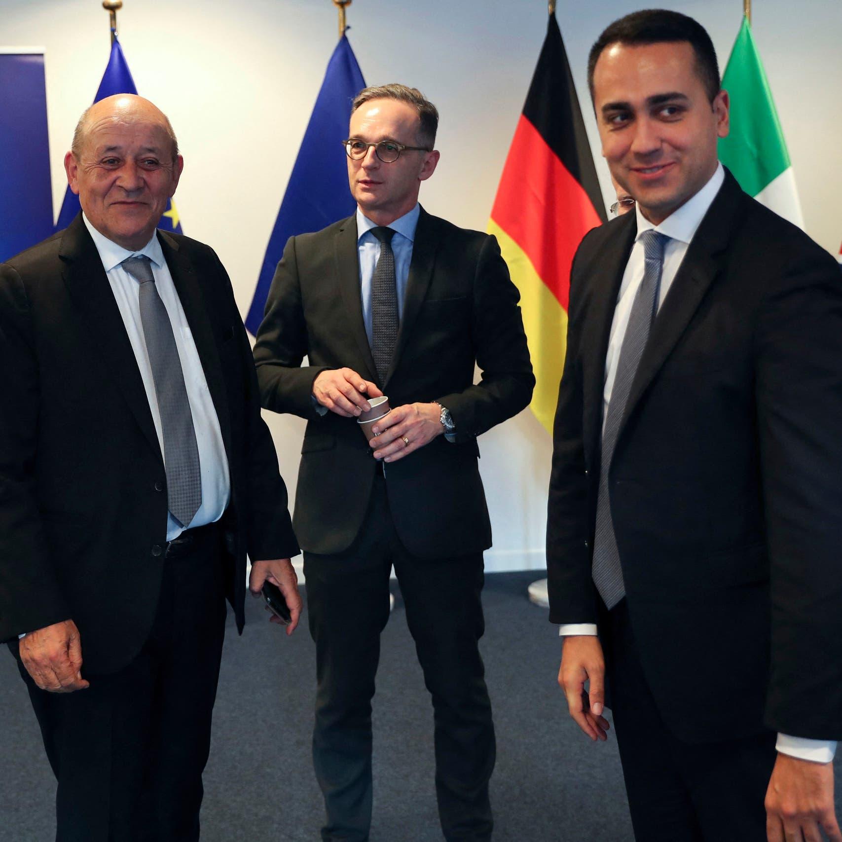 التزام أوروبي ثلاثي بمراقبة وقف إطلاق النار ودعم الاستقرار في ليبيا