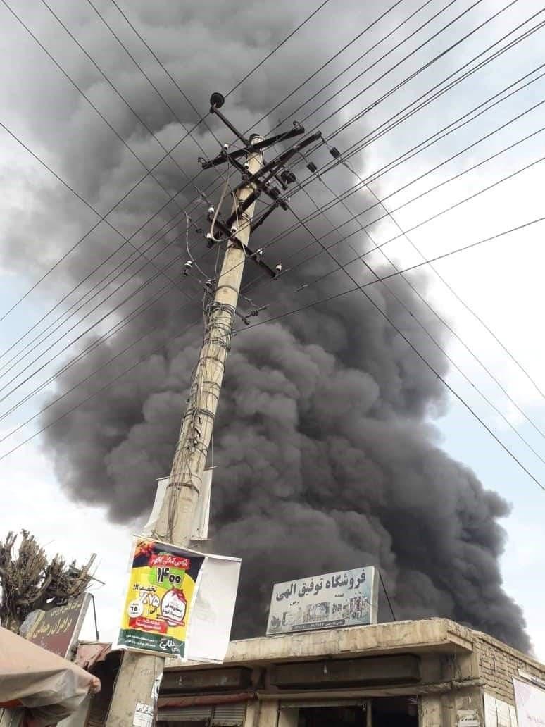 آتش سوزی در کابل