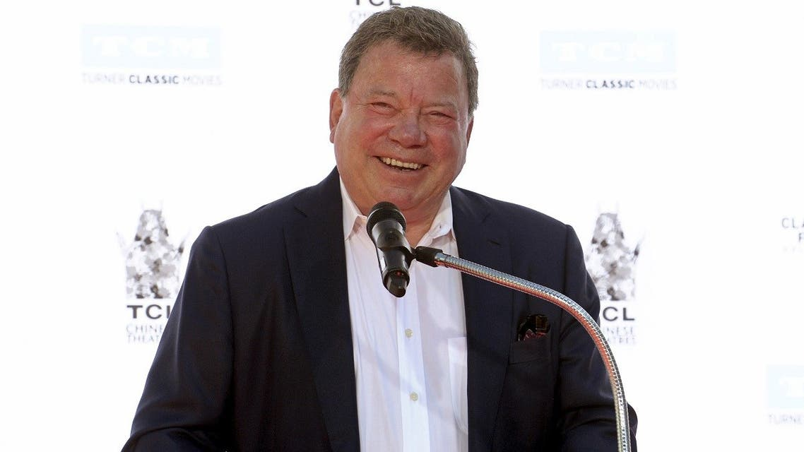 Actor William Shatner speaks during a handprint and footprint ceremony honoring actor Christopher Plummer at the TCL Chinese Theatre in Los Angeles, on March 27, 2015. (Reuters)