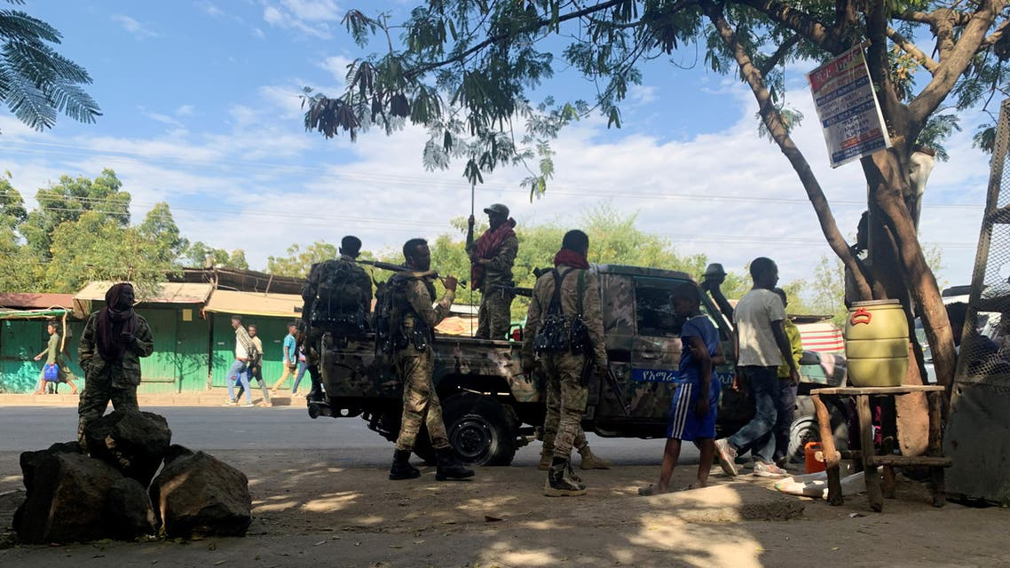 Members of Ethiopian National Defense Force prepare to head to missio, in Sanja. (Reuters)