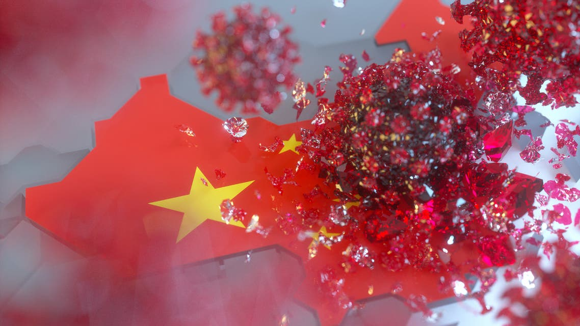 Virus and China concepts stock photo