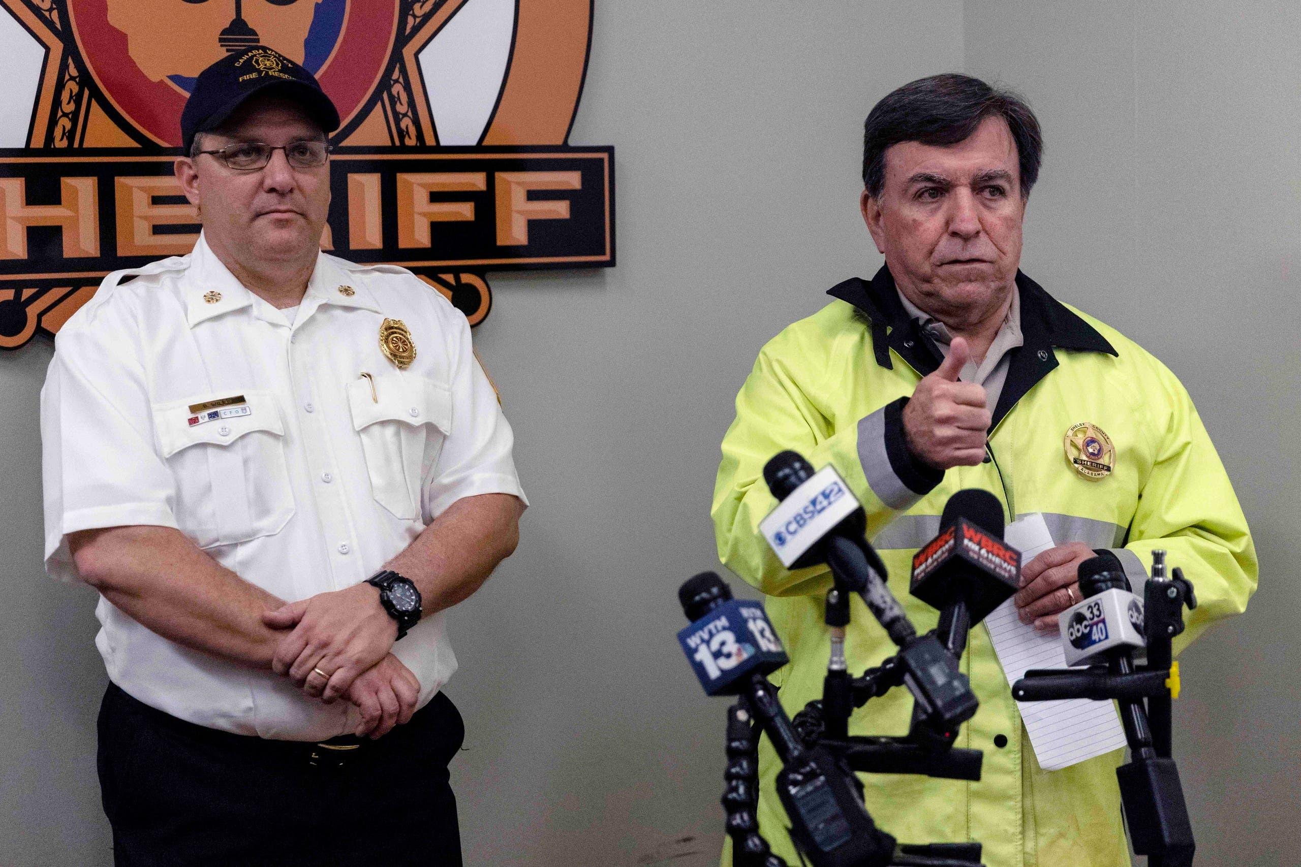 Shelby County Sheriff John Samaniego speaks at a press conference describing the tornado damage to Shelby County, near Birmingham, Ala., Thursday, March 25, 2021. (AP)