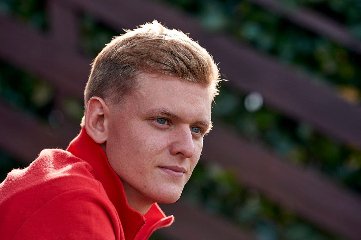 In this file photo taken on September 30, 2020 This photo taken on september 29, 2020 and handout by Ferrari on September 30, 2020 shows German racing driver Mick Schumacher at the Ferrari Driver Academy (FDA) in Maranello, Italy. (AFP)