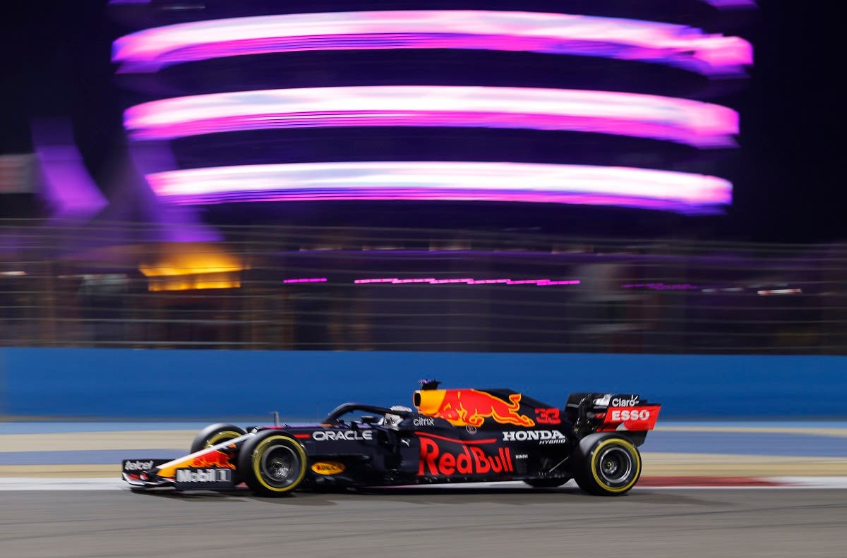 Red Bull's Max Verstappen in action during practice. (Reuters)