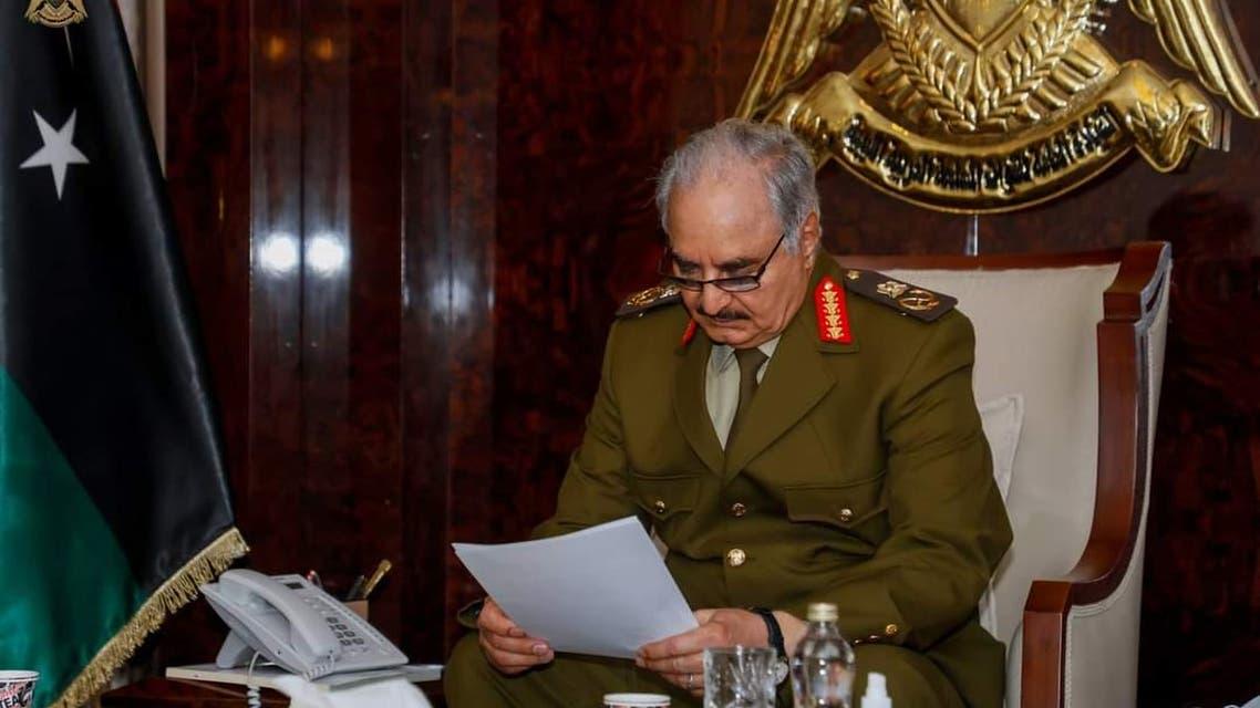 حفتر مستقبلا المبعوث الأممي إلى ليبيا يان كوبيتش