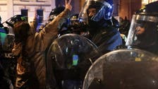 Police arrest ten at violent protest in English city of Bristol