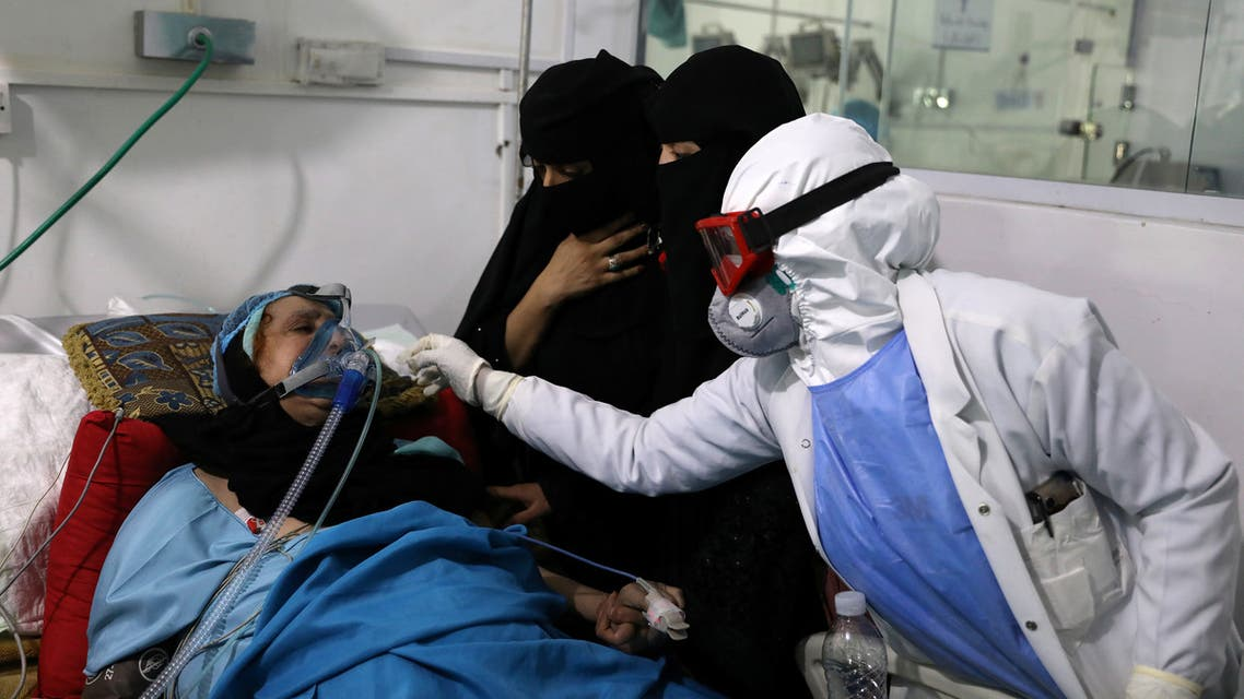 People recovering from the coronavirus disease (COVID-19) are pictured at a quarantine ward of a hospital in Sanaa, Yemen June 11, 2020. REUTERS/Khaled Abdullah