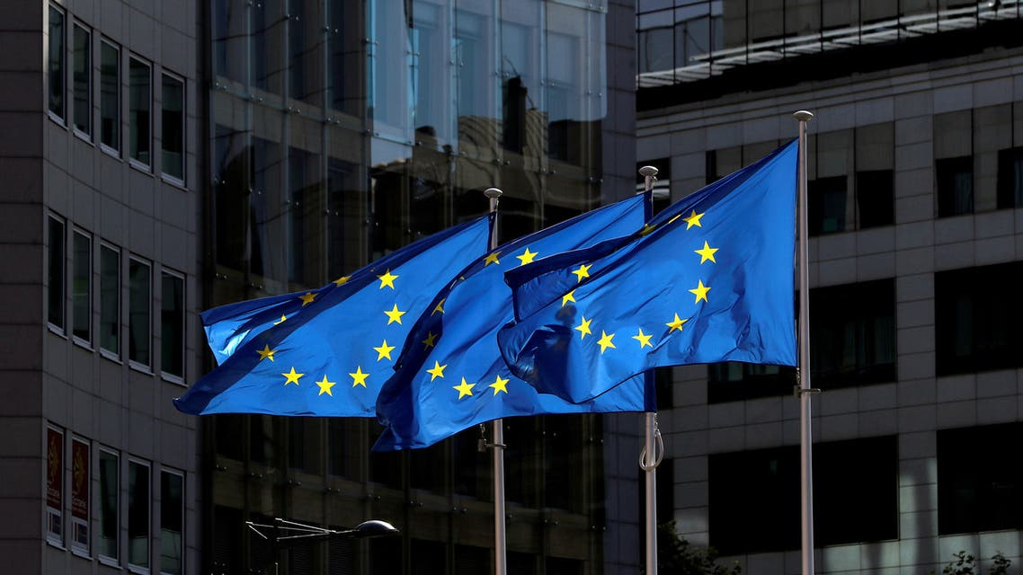 European Union flags flutter outside the European Commission headquarters in Brussels, Belgium August 21, 2020. (File photo: Reuters)