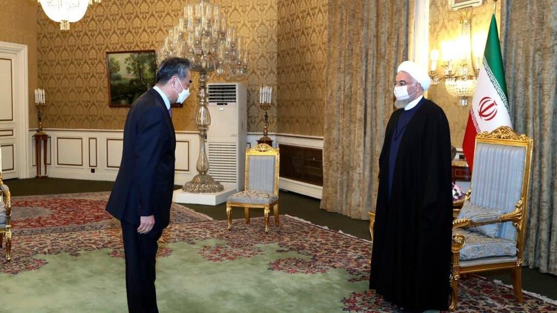 من استقبال الرئيس الإيراني لوزير الخارجية الصيني