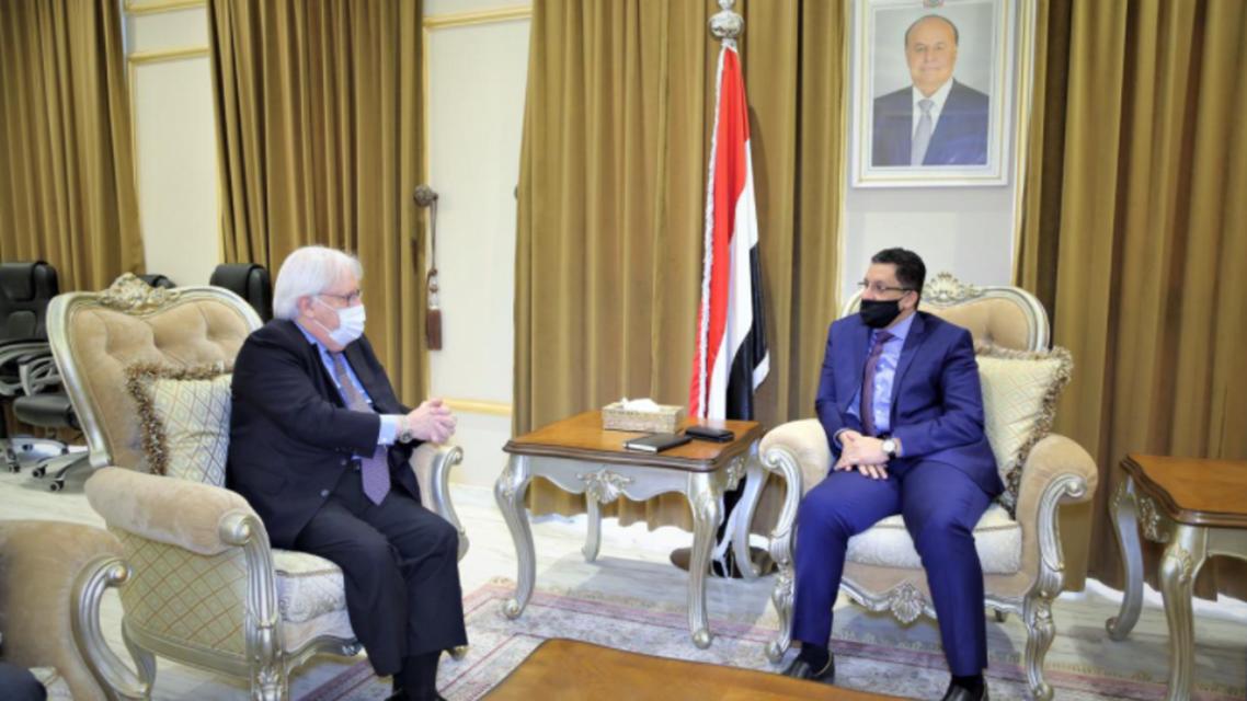 لقاء غريفيثس ووزر الخارجية اليمني