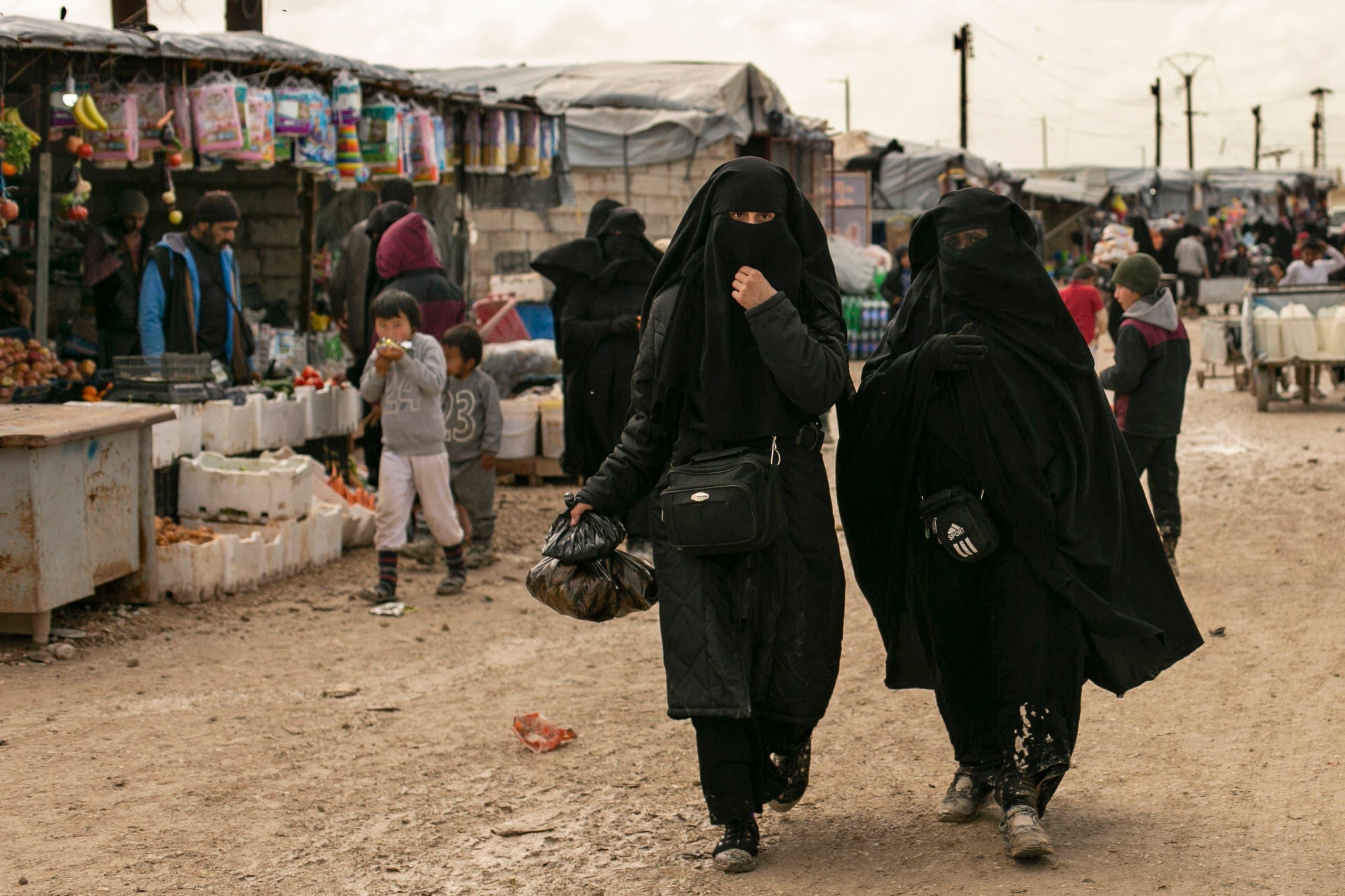 من مخيم الهول شمال شرق سوريا (أرشيفية- أسوشييتد برس)