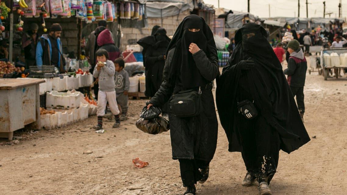 من مخيم الهول شمال شرق سوريا (أرشيفية- أسوشييتد برس))