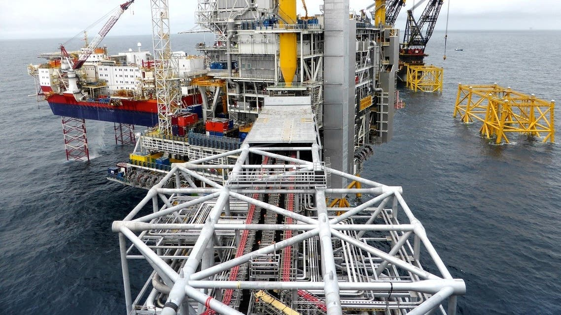 A general view of the Equinor's Johan Sverdrup oilfield platforms in the North Sea, Norway December 3, 2019. (Reuters/Ints Kalnins)