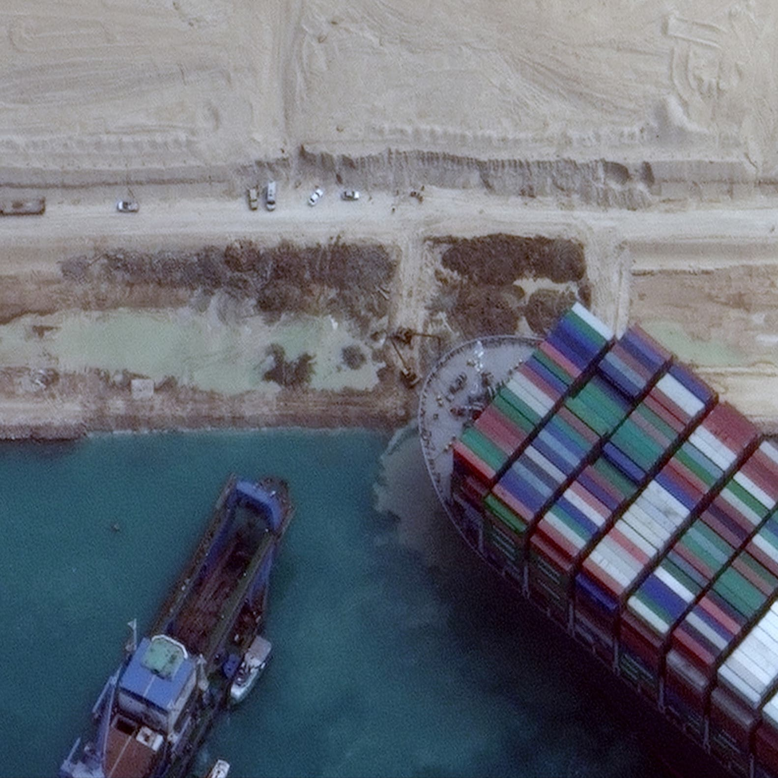 مصر تُخفّض التعويض المطلوب من السفينة الجانحة إلى550 مليون دولار