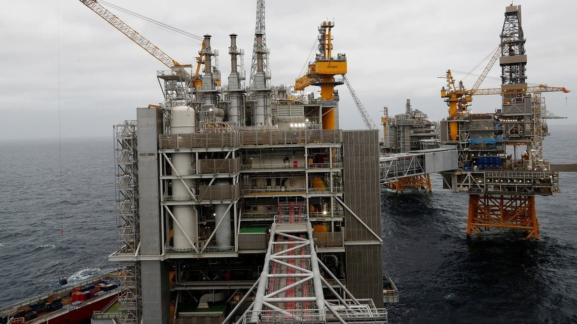 A view of Equinor's oil platform in Johan Sverdrup oilfield in the North Sea, Norway August 22, 2018. (Reuters/Nerijus Adomaitis)