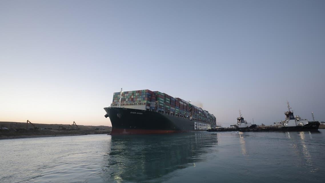 تعويم السفينة الجانحة قناة السويس صباح الاثنين 29 مارس