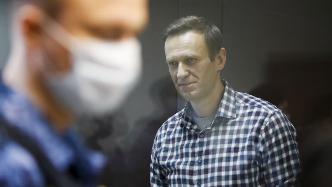 FILE PHOTO: Russian opposition politician Alexei Navalny attends a hearing to consider an appeal against an earlier court decision to change his suspended sentence to a real prison term, in Moscow, Russia February 20, 2021. (File photo: Reuters)