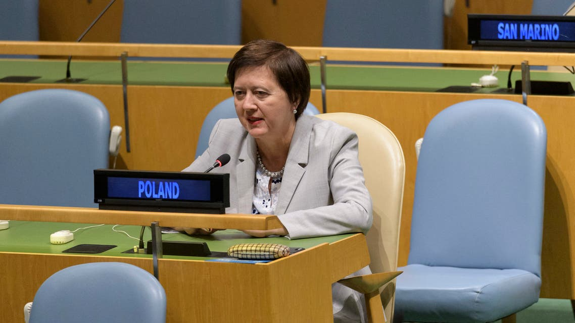 Joanna Wronecka, Permanent Representative of the Republic of Poland to the United Nations. (AFP)