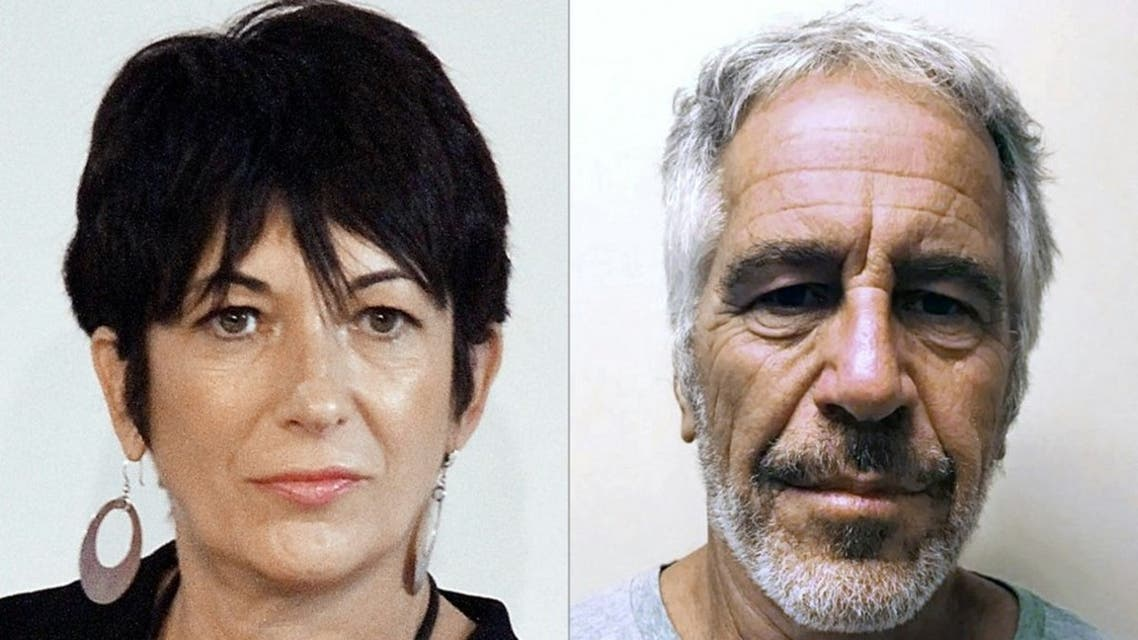 This combination of pictures created on July 2, 2020 shows Ghislaine Maxwell (L) during an event on September 20, 2013 in New York City and an undated handout photo obtained on July 11, 2019 courtesy of the New York State Sex Offender Registry of Jeffrey Epstein (R). (AFP)