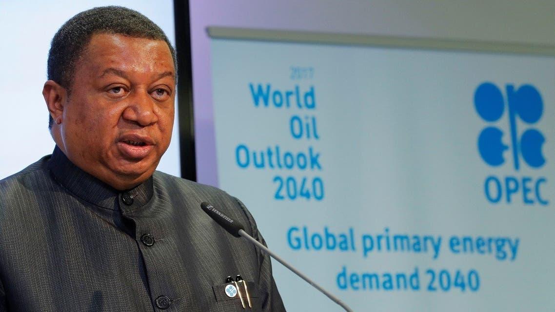OPEC Secretary-General Mohammad Barkindo addresses a news conference in Vienna, Austria. (File photo: Reuters)