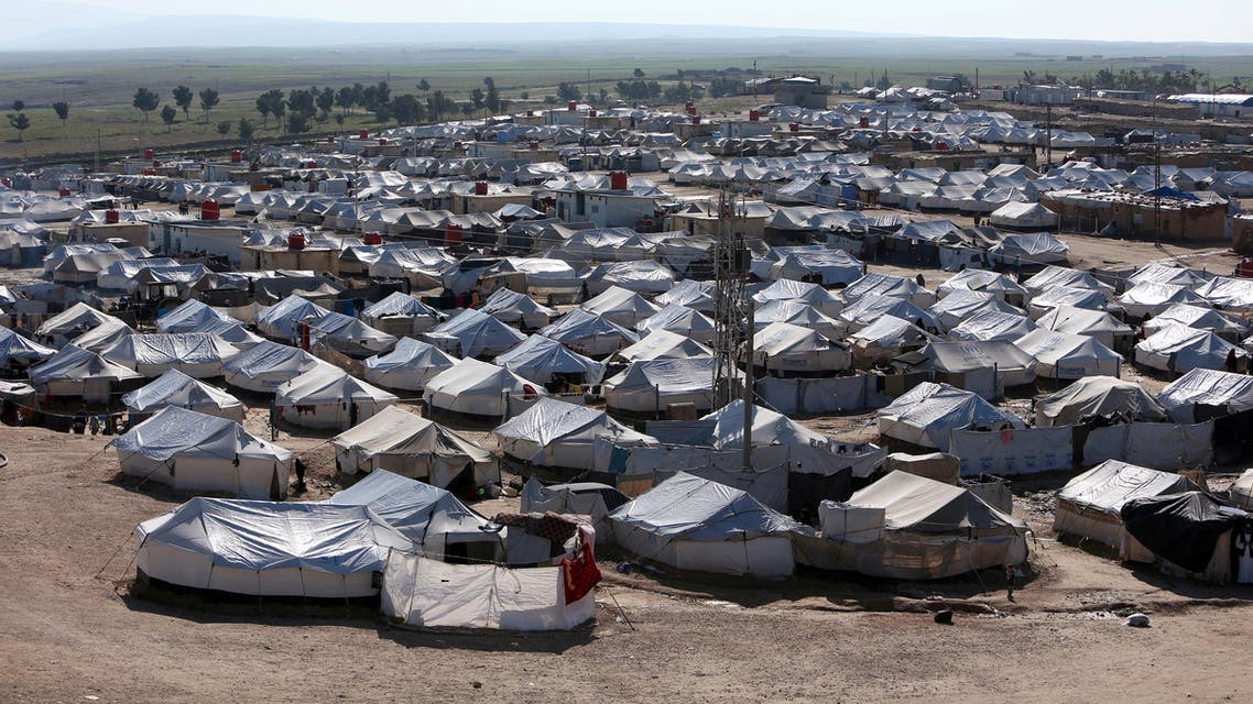 A general view of al-Hol displacement camp in Hasaka governorate, Syria April 2, 2019. (Reuters)