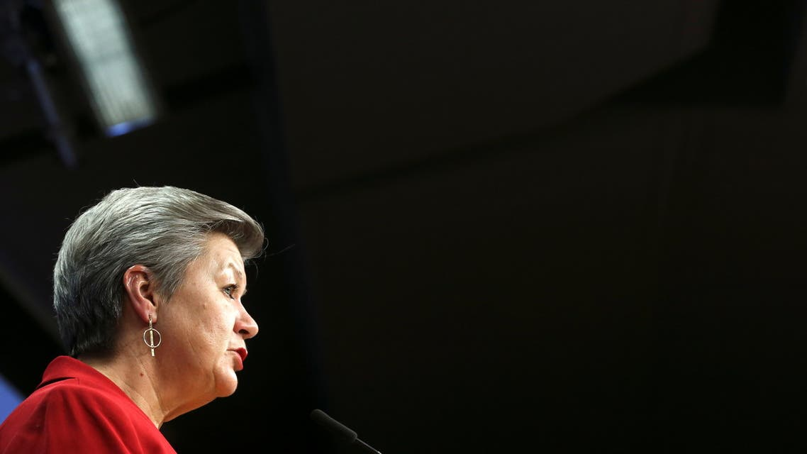 European Commissioner for Home Affairs Ylva Johansson holds a press conference after a EU Interior ministers video conference in Brussels. (File photo: Reuters)