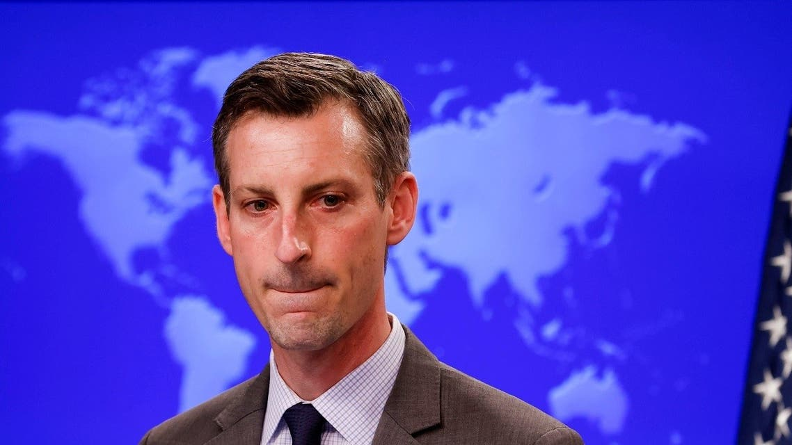 State Department Spokesman Ned Price speaks to reporters at the State Department, Feb. 24, 2021. (Reuters)