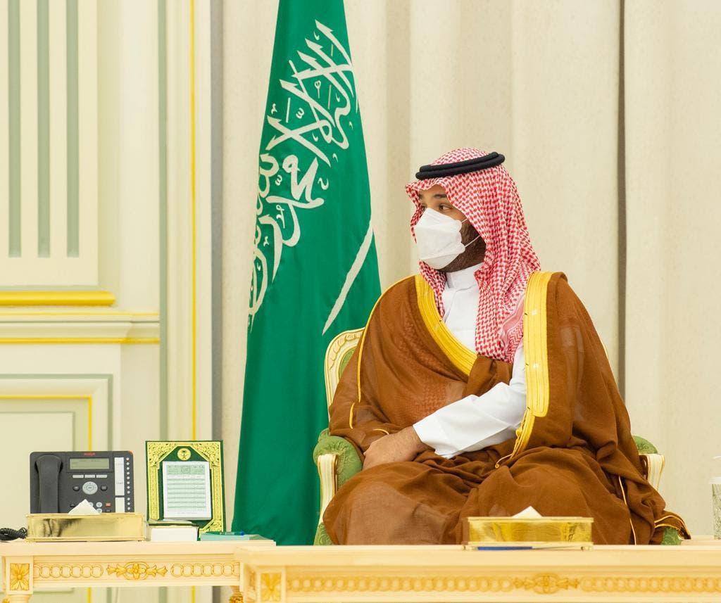 ولي العهد السعودي خلال جلسة المباحثات