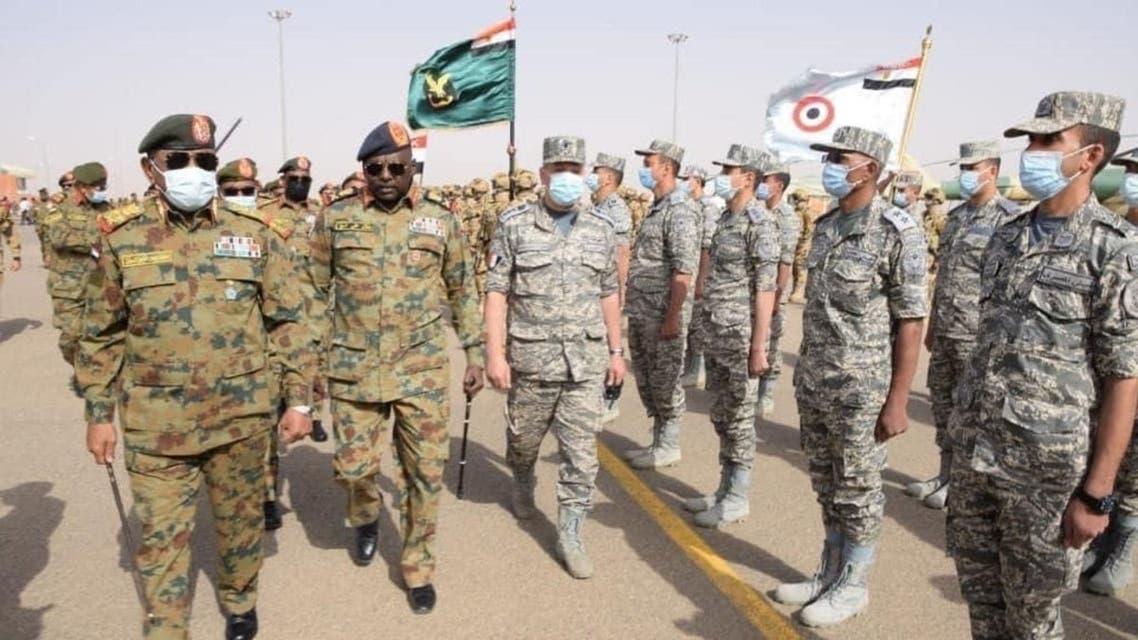 نسور النيل 2 مناورات تدريبات بين مصر و السودان في السودان في 31 مارس 2021