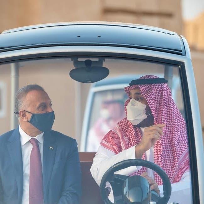 الأمير محمد بن سلمان يصطحب الكاظمي في جولة بالدرعية