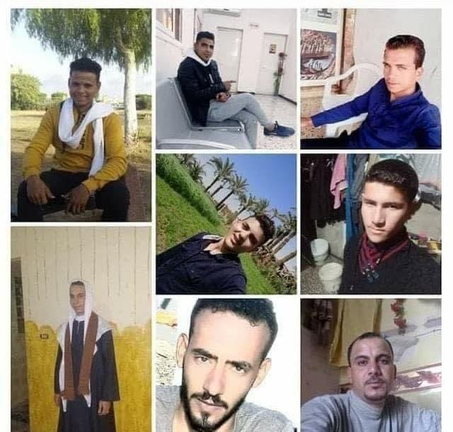 صور الشباب المختطف في مارس الماضي