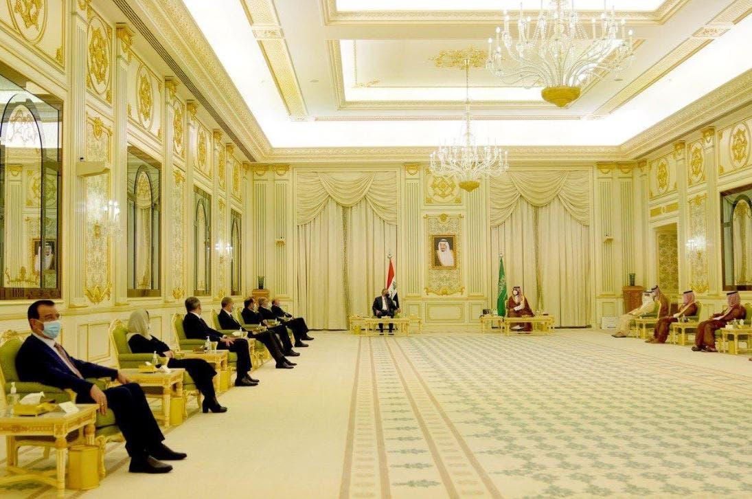 نشست میان محمد بن سلمان ولیعهد پادشاهی سعودی و مصطفی الکاظمی نخست وزیر عراق