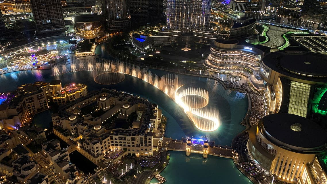 A general view shows the musical fountain in front of the Burj Khalifa, the tallest building in the world, in Dubai, United Arab Emirates, December 31, 2020. (File photo: Reuters)