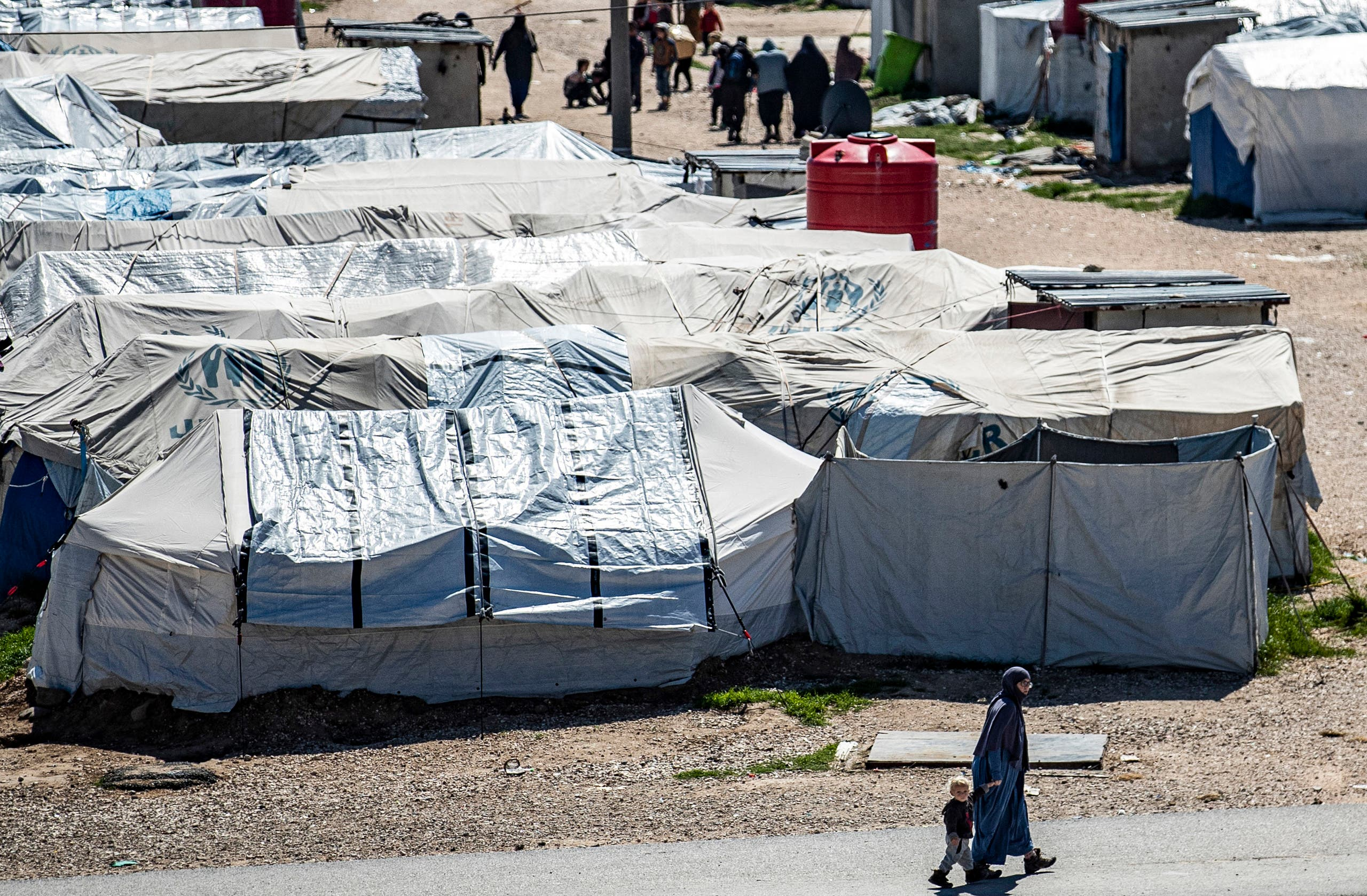 من مخيم روج شمال شرق سوريا (أرشيفية- فرانس برس)