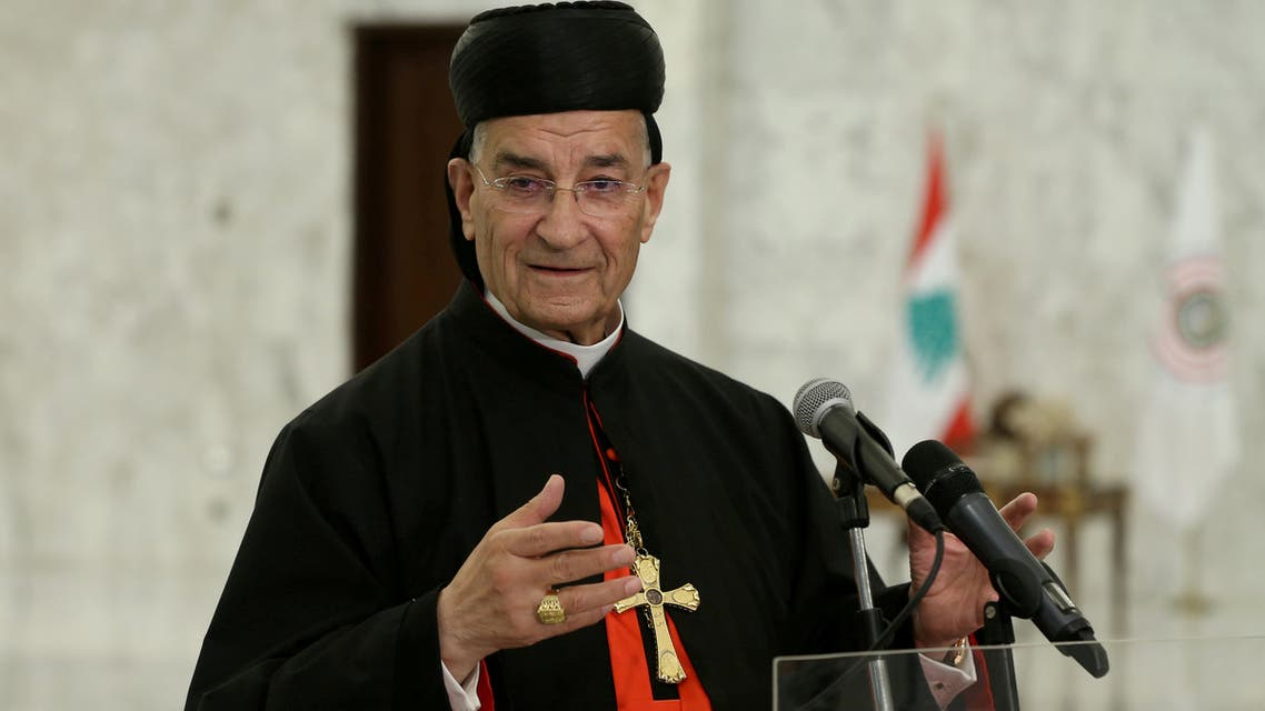 Lebanese Maronite Patriarch Bechara Boutros Al-Rai speaks after meeting with Lebanon's President Michel Aoun at the presidential palace in Baabda, Lebanon July 15, 2020. (Reuters)