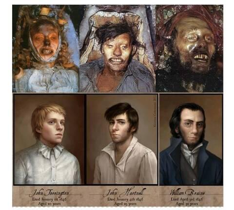 لوحة تجسد صور الجثث الـ3 بجزيرة بيتشي