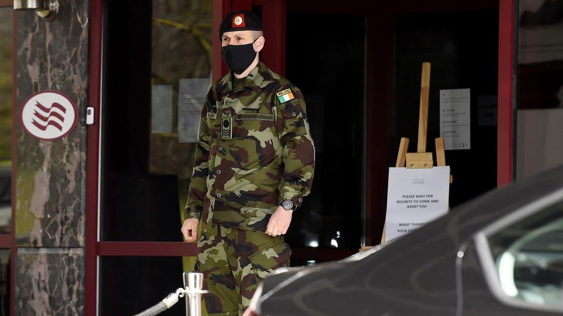 Ireland introduces hotel quarantine for airport arrivals, in Dublin. (Reuters)