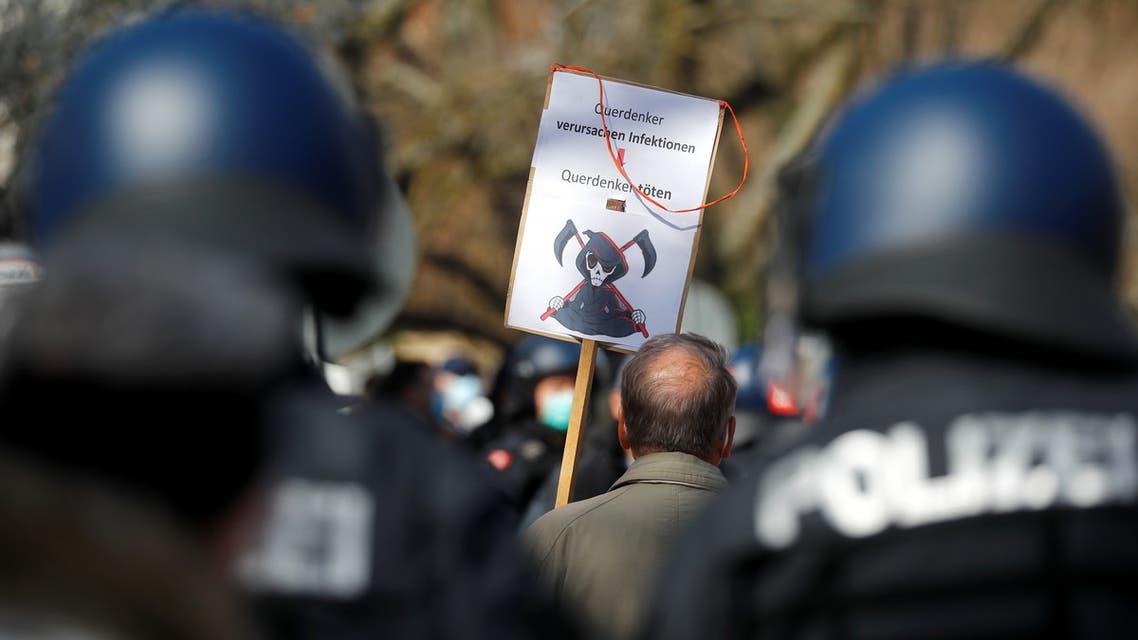مظارهات ذد إجراءات العزل بسبب كورونا في ألمانيا