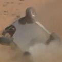 فيديو مروع.. سيارة تنقلب عدة مرات بمتسابقة في العلا