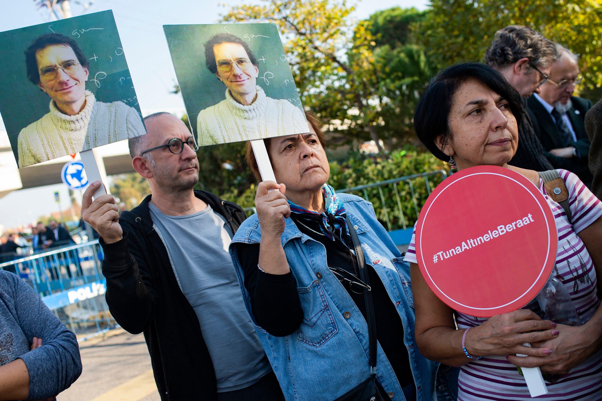 وقفة احتجاجية للإفراج عن العالم التركي - فرانس برس