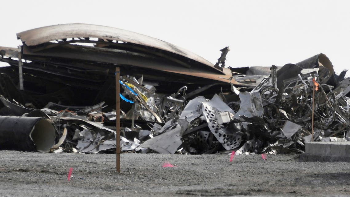 Debris is recovered from a National Wildlife Refuge after uncrewed SpaceX Starship prototype rocket SN11 failed to land safely, in Boca Chica, Texas, U.S. March 31,2021. (Reuters)