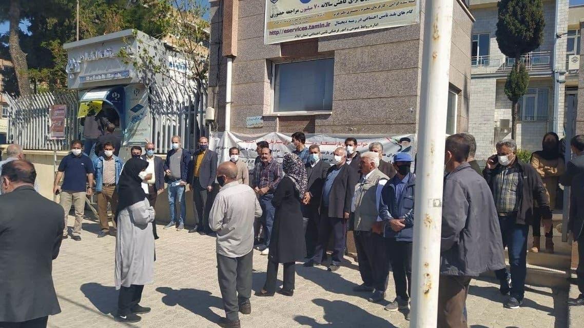 اعتراضات سراسری بازنشستگان در شهرهای مختلف ایران