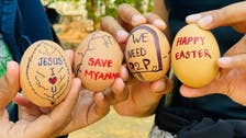 Myanmar anti-coup protesters launch Easter-themed 'egg strike'