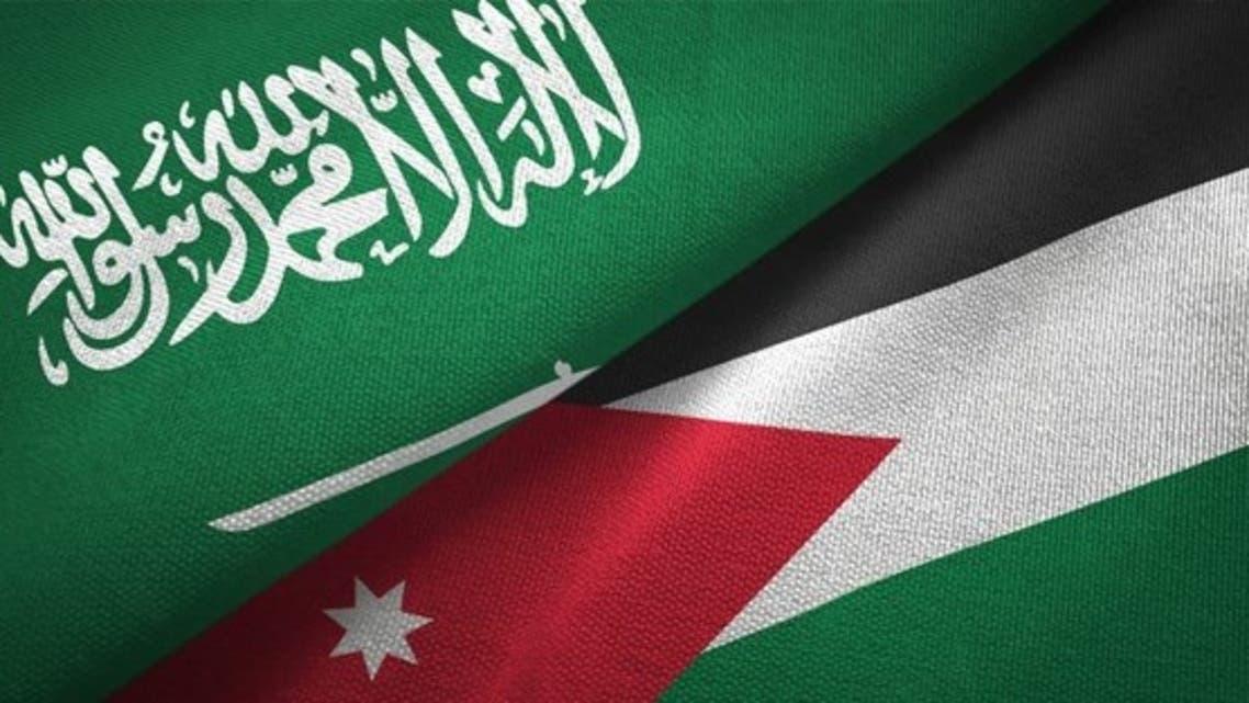پرچم سعودی و اردن