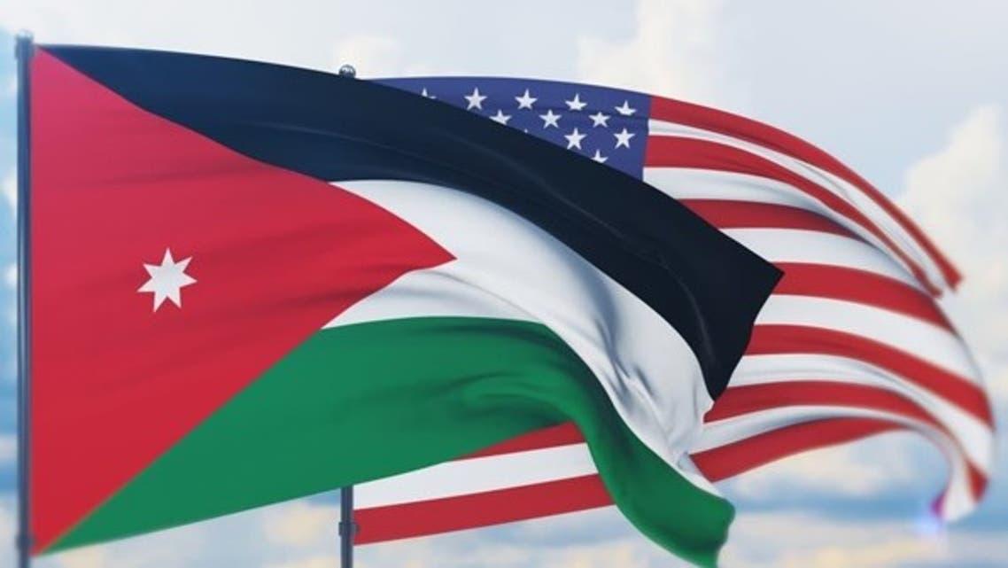 پرچم آمریکا و اردن