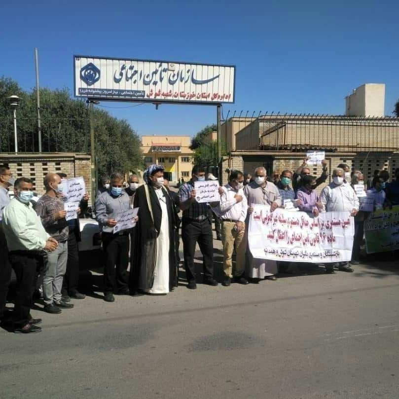تجدد احتجاجات المتقاعدين في عشرات المدن بإيران