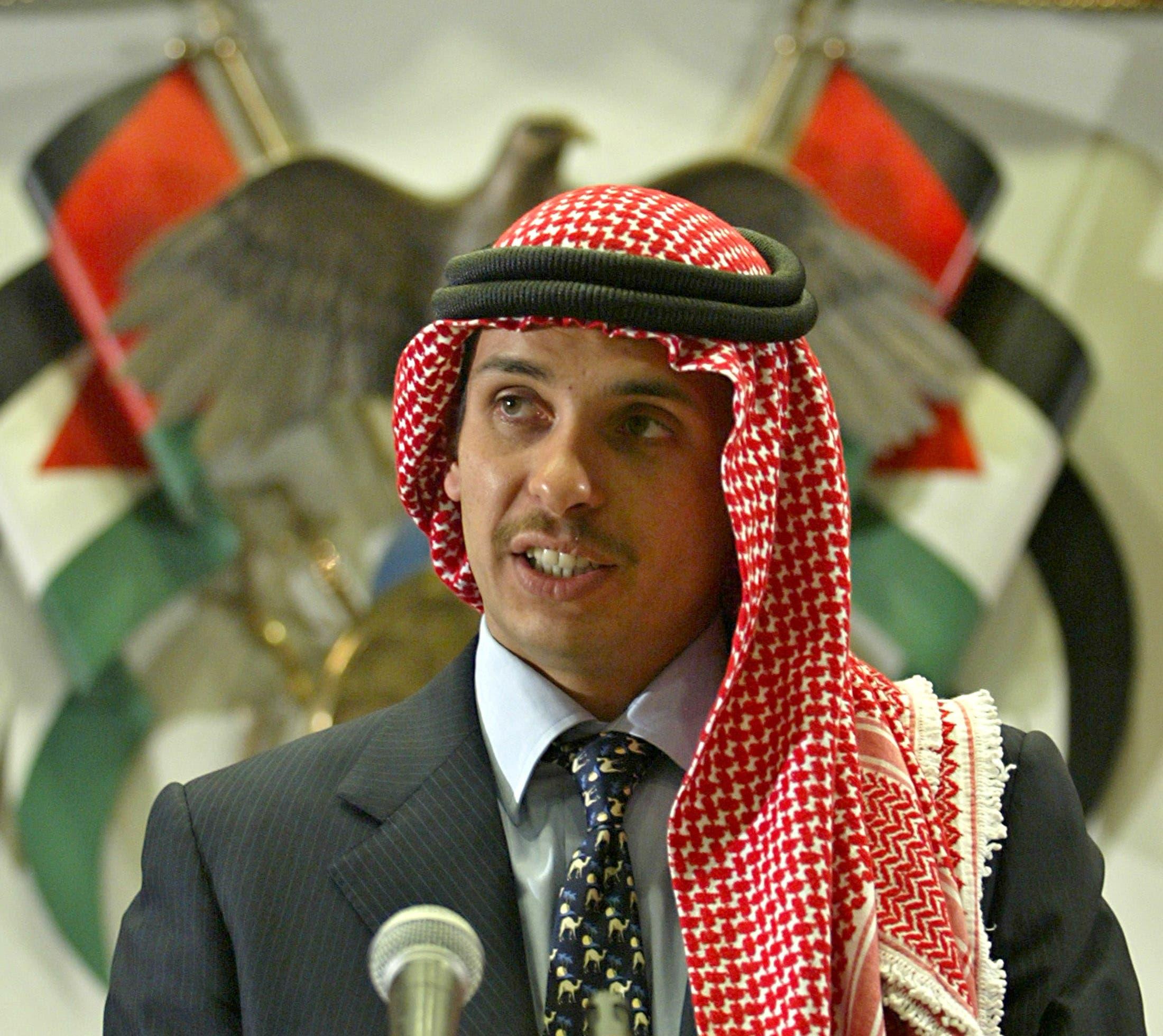Former Jordanian Crown Prince Hamza bin Hussein delivers a speech in Amman. (File photo: Reuters)