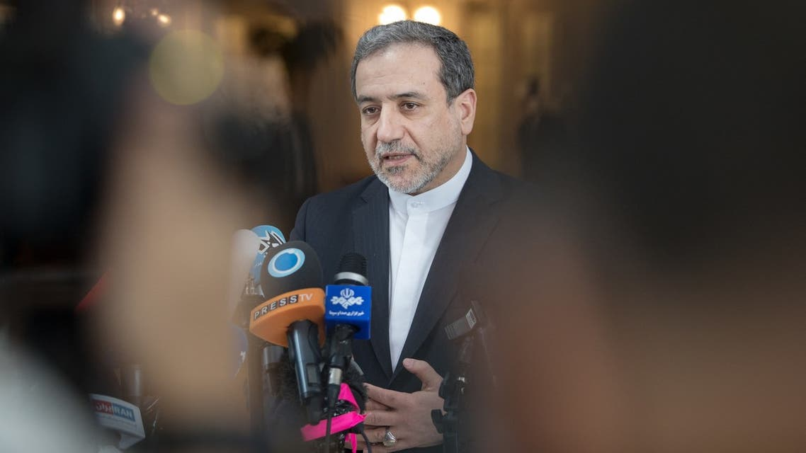 Abbas Araghchi, political deputy at the Ministry of Foreign Affairs of Iran, speaks to the media after the meeting of the Joint Commission of the Joint Comprehensive Plan of Action (JCPOA) attended by the E3+2 (China, France, Germany, Russia, United Kingdom) and Iran on July 28, 2019 at the Palais Coburg in Vienna, Austria.