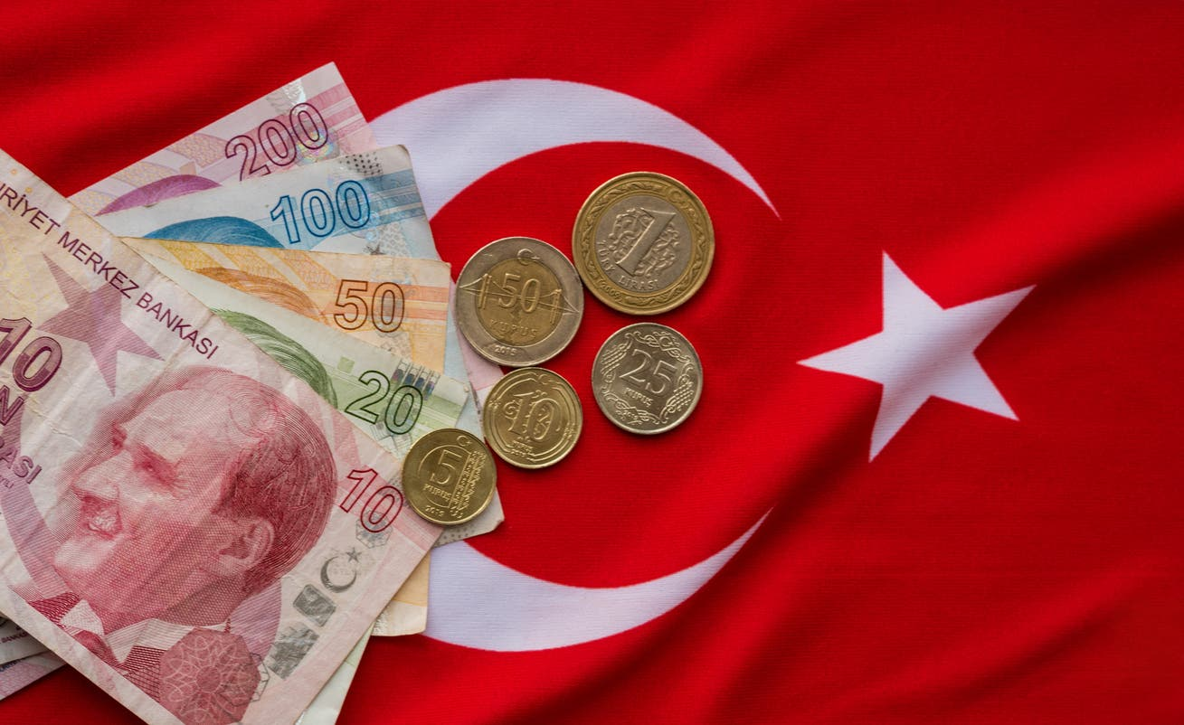 Flag of Turkey and the Lira